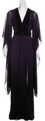 Halston Belted Maxi Dress w/ Tags