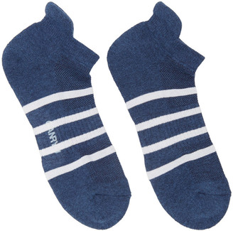 Ganryu Indigo Striped Socks $45 thestylecure.com