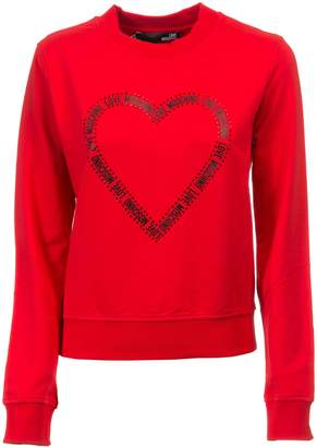 Moschino Printed Heart Sweatshirt