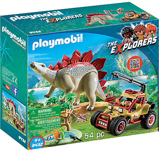 Playmobil The Explorers 9432 Vehicle with Stegosaurus