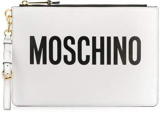 Moschino logo printed clutch