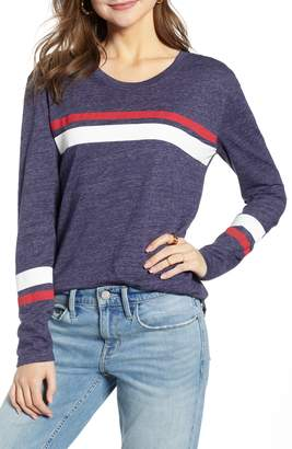 Treasure & Bond Varsity Stripe Knit Top