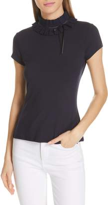 Ted Baker Ruffle Neck Fitted Tee