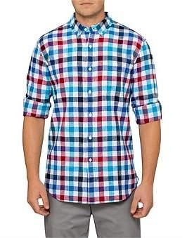 David Jones Bold Gingham Linen Shirt