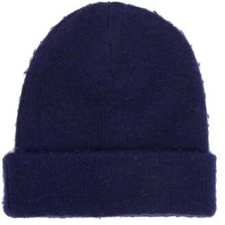 64d38fdf578 Acne Studios Pilled Wool Blend Beanie Hat - Mens - Navy