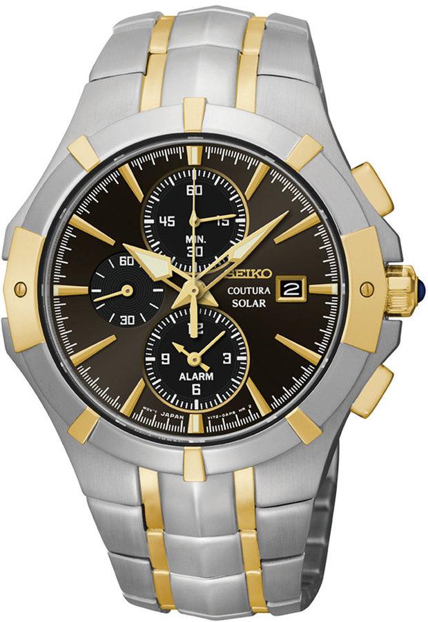 SeikoSeiko Men's Chronograph Coutura Solar Two-Tone Stainless Steel Bracelet Watch 41mm SSC198