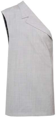 Raf Simons checked asymmetric blazer vest