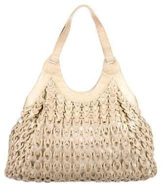 Nancy Gonzalez Metallic Crocodile Hobo Bag