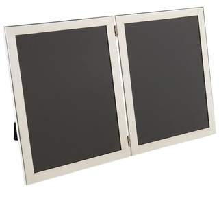 Salisbury Pewter Sterling Silver Double Picture Frame