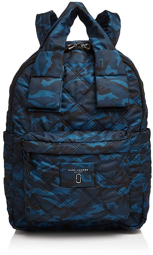 Marc Jacobs MARC JACOBS Knot Camo Print Large Nylon Backpack