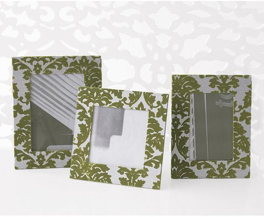 Flocked Leaf Frame Set - Silver/Leaf