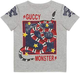 Gucci Guccy Monster & King Snake Graphic T-Shirt