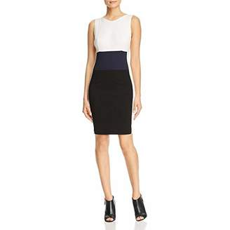 Three Dots Women's Ponte Colorblock Tight Short Dress