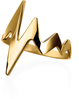 Delphine Leymarie 18k Gold Amour Heartbeat Ring