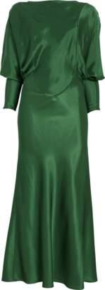 Victoria Beckham Open Back Drape Sleeve Dress