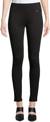 P. Luca Long Faux-Leather Trimmed Leggings
