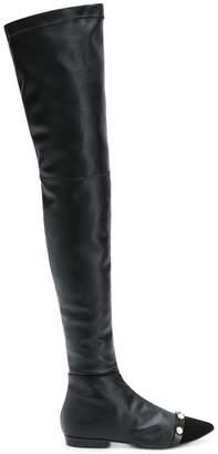 Philosophy di Lorenzo Serafini pearl embellished boots