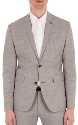 Ben Sherman Cotton and Linen Blend Textured Jacket