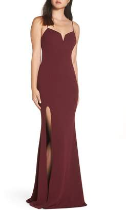 Katie May Modern Shaped Neckline Gown