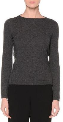 Giorgio Armani Blouson-Back Cashmere Sweater, Gray $1,695 thestylecure.com
