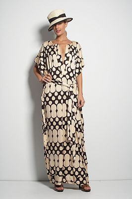Diane von Furstenberg Tuvallu Caftan in Waterfall Chocolate