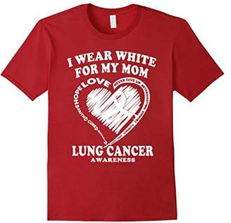 Lung Cancer Awareness T Shirt - I Wear White For My Mom