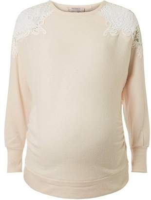 Dorothy Perkins Womens **Maternity Lace Cold Shoulder Top