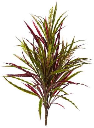 "Nearly Natural 28"" Fall Vanilla Grass Artificial Plant (Set of 3)"