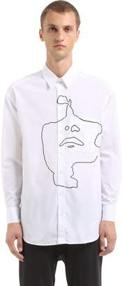 Neil Barrett Oversized Printed Cotton Poplin Shirt