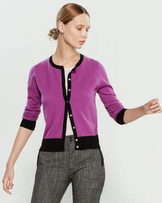 InCashmere In Cashmere Long Sleeve Button Front Cashmere Cardigan