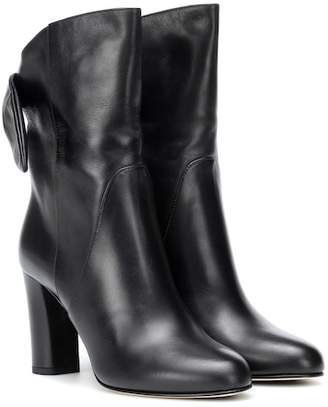 Jimmy Choo Malene 85 leather ankle boots