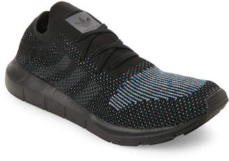 adidas Black & Grey Swift Run Knit Sneakers