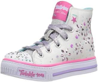 Skechers Girls' Shuffles-Petal Pop Sneaker