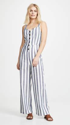 J.o.a. Striped Jumpsuit