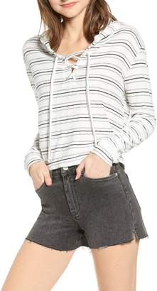Billabong Saturday Feeling Lace-Up Terry Hoodie