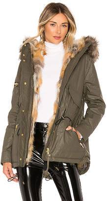 SAM. Mini Luxe Limelight Parka With Fur Lining