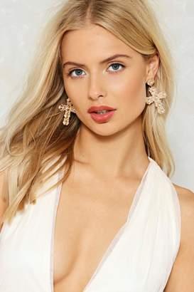 Nasty Gal Elena Cross Earrings
