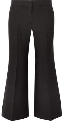 Valentino Wool And Silk-blend Crepe Wide-leg Pants - Black