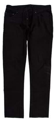 Balenciaga Five-Pocket Tonal Striped Jeans