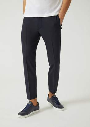 Emporio Armani Trousers In Comfortable Japanese Wool