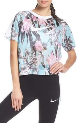 Nike Sportswear Floral Print Mesh Top