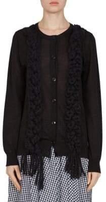 Simone Rocha Braided Wool, Silk & Cashmere Cardigan