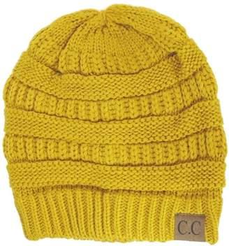 8532bc8c58450 C.C Thick Slouchy Knit Unisex Beanie Cap Hat