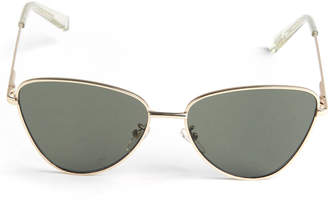 Le Specs Echo Matte Gold Metal Sunglasses