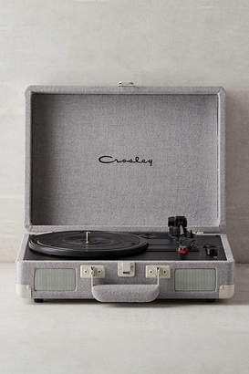 Crosley UO Exclusive Slate Canvas Cruiser Bluetooth Record Player