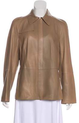 Akris Leather Collared Jacket