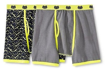 How To Train Your Dragon Boys' Dreamworks Dragon 2-Pack Boxer Briefs - Black/Yellow