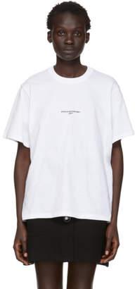 Stella McCartney White Small Print Logo T-Shirt