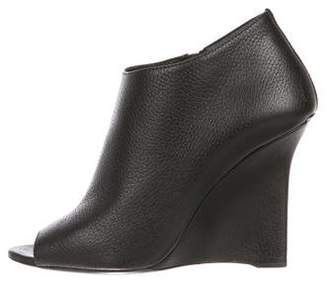 Burberry Leather Wedge Boots