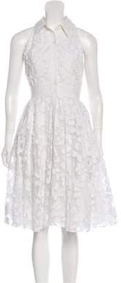 ABS by Allen Schwartz Sleeveless Embroidered Dress